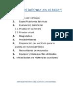 Informe Tecnico Del Servicio Automotriz