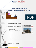 Introduction to the Concept of Law in Malaysia