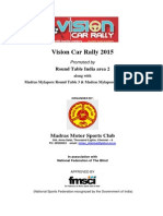 MMSC Vision Car Rally 2015 Supplementary Rules