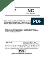 MODELO DE GESTIÓN PARA MICRO, PEQUEÑAS Y MEDIANAS ORGANIZACIONES