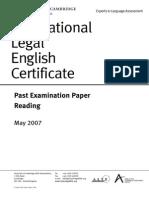 22578 Ilec Reading Paper 2007