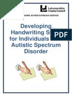 Autism Handwriting Skills