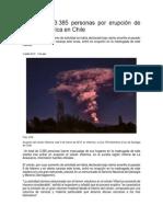 Erupcion Volcan Villarrica, Chile_Noticia El Espectador 03 Marzo 2015