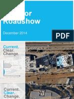 Investor Roadshow 2014 Dec FINAL
