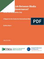 CIMA-Good Governance Academics Survey- 07-06-12 FINAL