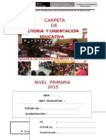 Carpeta de Tutoria Primaria 2015