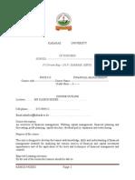 Fnce 413 Fin Mgt(Stud May 2015)