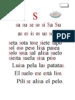 Metodo de Lectoescritura Letra s