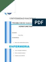 Informe de Hematometría
