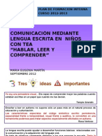 lECTOESCRITURA  FORMACION 2012
