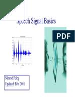 Speech Processing Basics