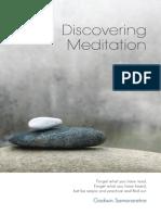 Discovering Meditation