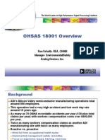 Ohs Ah 18001 Overview