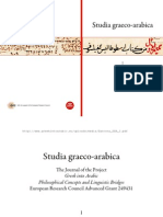 D'ANCONA CRISTINA StGrAr 2011-1 Platonic and Neoplatonic Terminology for Being in Arabic Translation