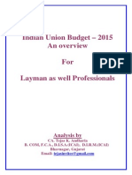 Union Budget 2015 Analysis