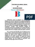 Manifiesto Pro Lenguas Clásicas