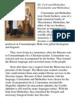 Patron Saints SS Cyril & Methodius