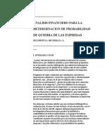 Analisis Financiero Altman Funcion q