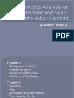 Semiotics Analysis on Wrinker and Noah Photography Advertisement