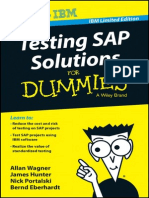 Testing SAP Solutions for Dummies