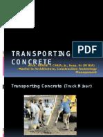 Transporting Concrete