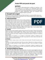 Reglementari Oficiale WPA Ale Jocului de Pool