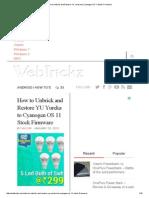 How to Unbrick and Restore YU Yureka to Cyanogen OS 11 Stock Firmware