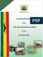 Cape Coast Metro Budget 2012