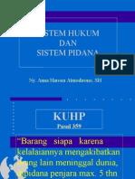 Sistim Hukum dan sistim pidana - Anna Haroen A, SH.ppt