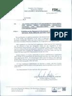 FDA Memorandum Circualr No 2014-014-A