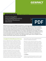 Partnering for Successful Execution in Global Business Services