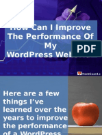 How Can I Improve the Performance of My Wordpress Website