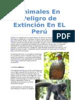 Animales En Peligro de Extinción En EL Perúii.doc