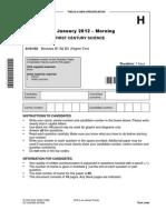 Question Paper Unit a161 02 Modules b1 b2 b3 Higher Tier