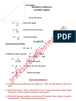 MATEMATICA FINANCIERA INTERES SIMPLE