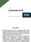 Elemente de TE in RM