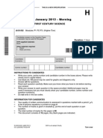 Question Paper Unit a181 02 Modules p1 p2 p3 Higher Tier
