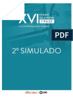 2 simulado do XVI Exame da Ordem
