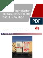Minishelter Installation Standard for DBS Solution