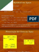 Determinação de Cloro e Fluor