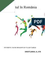 Sportul in Romania - Faur Moldovan Vlad Vasile - Drept, Anul II, Petru Maior.docx