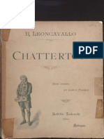 Chatterton(Leoncavallo's Opera