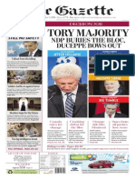Montreal Gazette front page, May 3, 2011