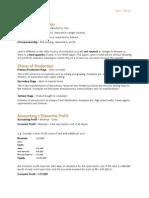 A2 Economics notes - Topic 1