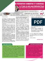 Plan d'action fédéral d'Adélaïde Piazzi 2015
