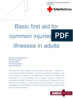 Basic First Aid for Common Injuries and Illnesses in Adults