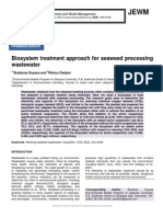 Biosystem treatment approach for seaweed processing wastewater