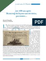 494 6.Titanic 100 Ans Apres Beaucoup de Lecons Ont Ete Tirees Pas Toutes