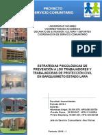 PROYECTO SERVICIO COMUNITARIO Con Conclusiones y Recomendaciones