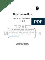 Mathematics Grade 9 Module